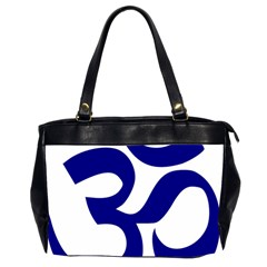Om Symbol (navy Blue) Office Handbags (2 Sides)  by abbeyz71