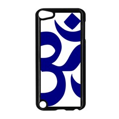 Om Symbol (navy Blue) Apple Ipod Touch 5 Case (black) by abbeyz71