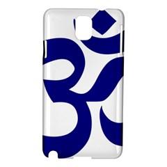 Om Symbol (navy Blue) Samsung Galaxy Note 3 N9005 Hardshell Case by abbeyz71