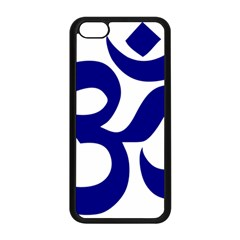 Om Symbol (navy Blue) Apple Iphone 5c Seamless Case (black) by abbeyz71