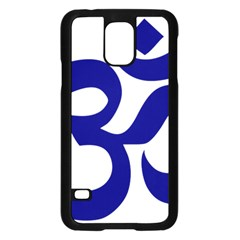 Om Symbol (navy Blue) Samsung Galaxy S5 Case (black) by abbeyz71