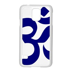 Om Symbol (navy Blue) Samsung Galaxy S5 Case (white) by abbeyz71