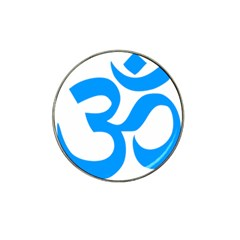 Hindu Om Symbol (ocean Blue) Hat Clip Ball Marker (10 Pack) by abbeyz71