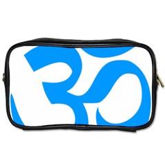 Hindu Om Symbol (ocean Blue) Toiletries Bags 2 Side by abbeyz71