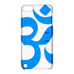 Hindu Om Symbol (ocean Blue) Apple Ipod Touch 5 Hardshell Case With Stand by abbeyz71