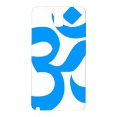 Hindu Om Symbol (ocean Blue) Samsung Galaxy Note 3 N9005 Hardshell Back Case by abbeyz71
