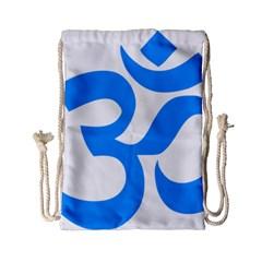 Hindu Om Symbol (ocean Blue) Drawstring Bag (small) by abbeyz71