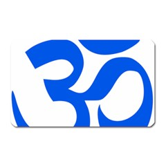 Hindu Om Symbol (blue) Magnet (rectangular) by abbeyz71