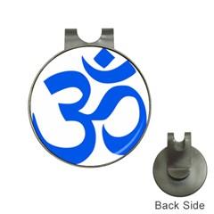 Hindu Om Symbol (blue) Hat Clips With Golf Markers by abbeyz71