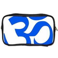 Hindu Om Symbol (blue) Toiletries Bags 2 Side by abbeyz71