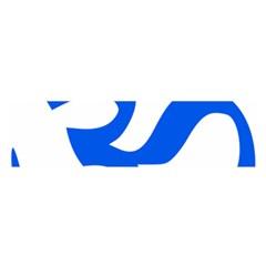 Hindu Om Symbol (blue) Satin Scarf (oblong) by abbeyz71