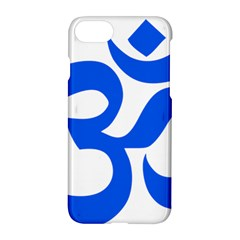 Hindu Om Symbol (blue) Apple Iphone 7 Hardshell Case by abbeyz71