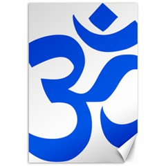 Hindu Om Symbol (blue) Canvas 12  X 18   by abbeyz71