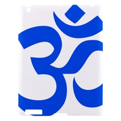Hindu Om Symbol (blue) Apple Ipad 3/4 Hardshell Case by abbeyz71