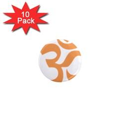 Hindu Om Symbol (sandy Brown) 1  Mini Magnet (10 Pack)  by abbeyz71
