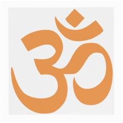 Hindu Om Symbol (sandy Brown) Medium Glasses Cloth (2 Side) by abbeyz71