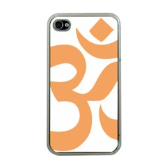 Hindu Om Symbol (sandy Brown) Apple Iphone 4 Case (clear) by abbeyz71