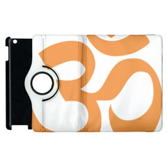 Hindu Om Symbol (sandy Brown) Apple Ipad 3/4 Flip 360 Case by abbeyz71