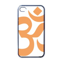 Hindu Om Symbol (sandy Brown) Apple Iphone 4 Case (black) by abbeyz71