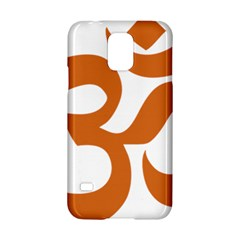 Hindu Om Symbol (chocolate Brown) Samsung Galaxy S5 Hardshell Case  by abbeyz71