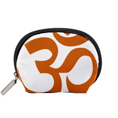 Hindu Om Symbol (chocolate Brown) Accessory Pouches (small)  by abbeyz71