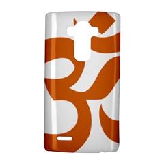 Hindu Om Symbol (chocolate Brown) Lg G4 Hardshell Case by abbeyz71