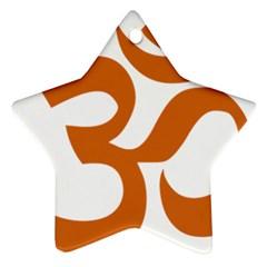 Hindu Om Symbol (chocolate Brown) Star Ornament (two Sides) by abbeyz71