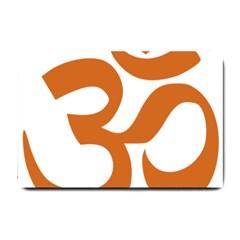 Hindu Om Symbol (chocolate Brown) Small Doormat  by abbeyz71