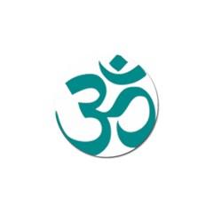 Hindu Om Symbol (dark Cyan) Golf Ball Marker (4 Pack) by abbeyz71