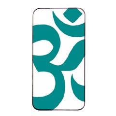 Hindu Om Symbol (dark Cyan) Apple Iphone 4/4s Seamless Case (black) by abbeyz71