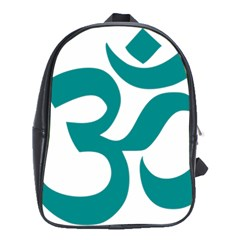 Hindu Om Symbol (dark Cyan) School Bags (xl)  by abbeyz71