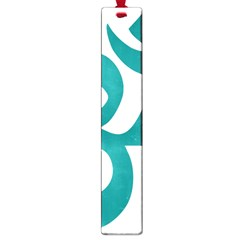 Hindu Om Symbol (dark Cyan) Large Book Marks by abbeyz71