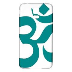 Hindu Om Symbol (dark Cyan) Samsung Galaxy S5 Back Case (white) by abbeyz71