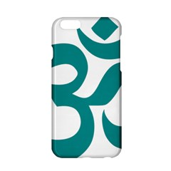 Hindu Om Symbol (dark Cyan) Apple Iphone 6/6s Hardshell Case by abbeyz71