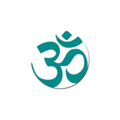 Hindu Om Symbol (dark Cyan) Golf Ball Marker (4 Pack) by abbeyz71