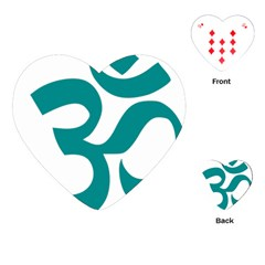 Hindu Om Symbol (dark Cyan) Playing Cards (heart)  by abbeyz71