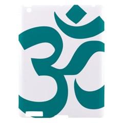 Hindu Om Symbol (dark Cyan) Apple Ipad 3/4 Hardshell Case by abbeyz71