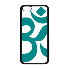 Hindu Om Symbol (dark Cyan) Apple Iphone 5c Seamless Case (black) by abbeyz71