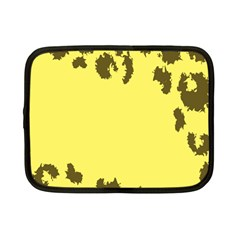 Banner Polkadot Yellow Grey Spot Netbook Case (small)  by Mariart