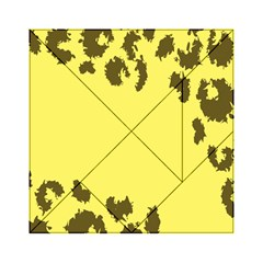 Banner Polkadot Yellow Grey Spot Acrylic Tangram Puzzle (6  X 6 ) by Mariart