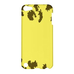Banner Polkadot Yellow Grey Spot Apple Ipod Touch 5 Hardshell Case by Mariart