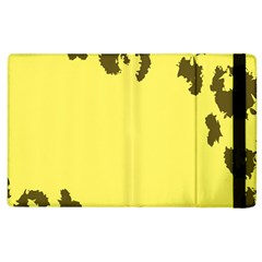 Banner Polkadot Yellow Grey Spot Apple Ipad 3/4 Flip Case by Mariart
