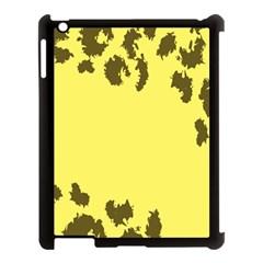 Banner Polkadot Yellow Grey Spot Apple Ipad 3/4 Case (black) by Mariart