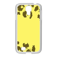 Banner Polkadot Yellow Grey Spot Samsung Galaxy S4 I9500/ I9505 Case (white) by Mariart