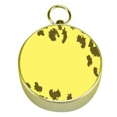 Banner Polkadot Yellow Grey Spot Gold Compasses by Mariart
