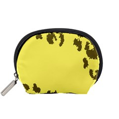 Banner Polkadot Yellow Grey Spot Accessory Pouches (small)  by Mariart