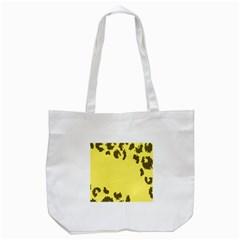 Banner Polkadot Yellow Grey Spot Tote Bag (white) by Mariart