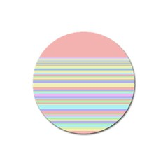 All Ratios Color Rainbow Pink Yellow Blue Green Magnet 3  (round) by Mariart