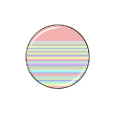All Ratios Color Rainbow Pink Yellow Blue Green Hat Clip Ball Marker (4 Pack) by Mariart