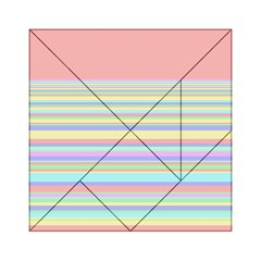 All Ratios Color Rainbow Pink Yellow Blue Green Acrylic Tangram Puzzle (6  X 6 ) by Mariart